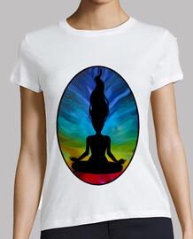 Camiseta meditación chakras yoga