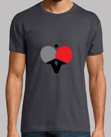 camiseta mesa de ping pong, ratón gris, de primera calidad