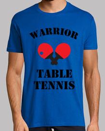 camiseta mesa de tenis de hombre, manga corta, cuello