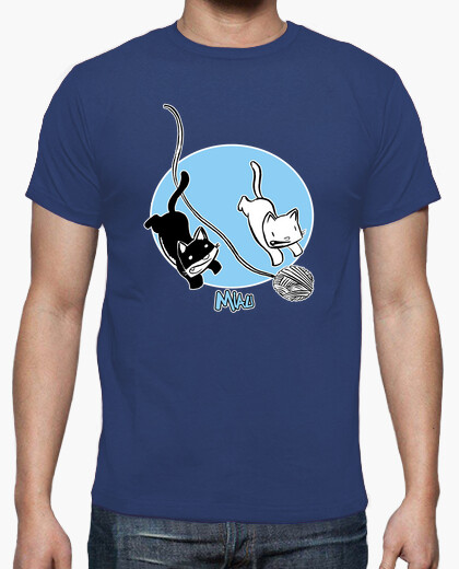 Camiseta miau 02 hombre