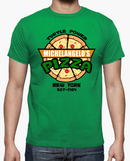 Camiseta MIchelangelos Pizza