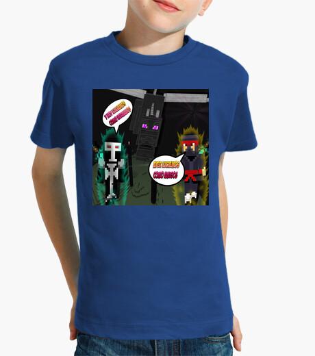 Ropa infantil Camiseta Minecraft Para los Mas Pequeños  Luchemos Como Amigos,Hoy Como Hermanos