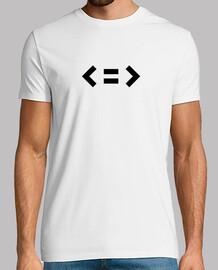 Camiseta Minimal Negro hombre