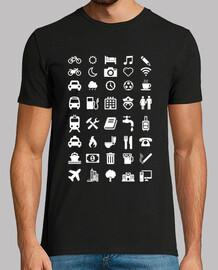 camiseta mit emoticons für reisende