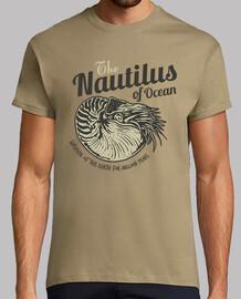 Camiseta Molusco Cefalópodo Nautilus Océano Retro VIntage