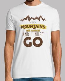Camiseta Montañas Retro Estilo