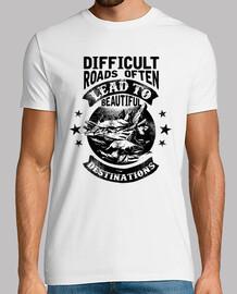 Camiseta Montañas Retro Estilo Retro