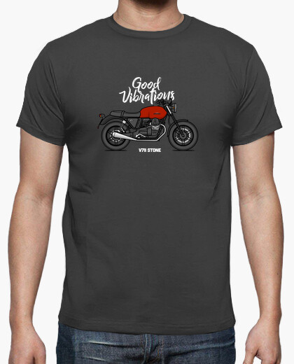 Camiseta Moto Guzzi V7II Stone Red