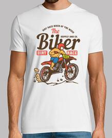 Camiseta Motocross Retro Biker Race Moto