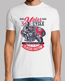Camiseta Motos 1991 Cartoon Motorbike Racing