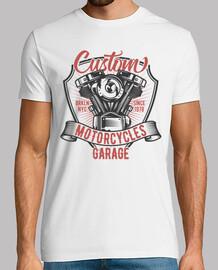Camiseta Motos Bikers Garage Vintage Mecánico