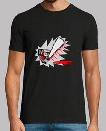 camiseta motosierra sangrienta para personalizar negro