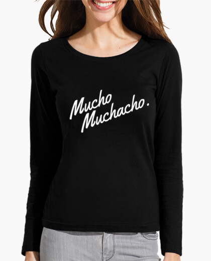 Camiseta Mucho Muchacho. Blanco