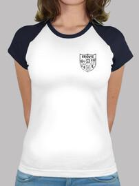 Camiseta muje bicolor-basque negro