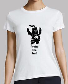 Camiseta mujer - Dark Souls - Caballero Solaire - Praise the Sun - negro