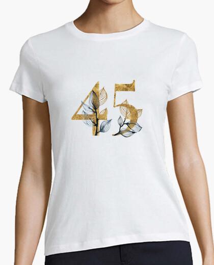 Camiseta mujer 45 años dorado de manga corta