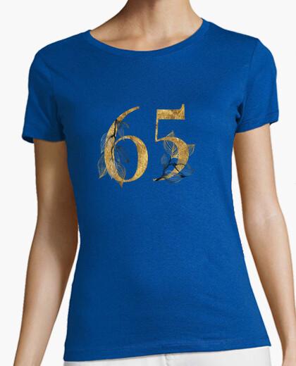 Camiseta mujer 65 años dorado con manga corta
