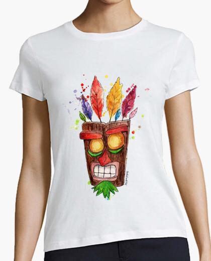 Camiseta mujer Aku Aku mascara