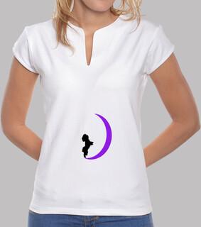 Camiseta mujer bichon y luna