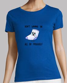 Camiseta mujer calcetin solitario letras negras