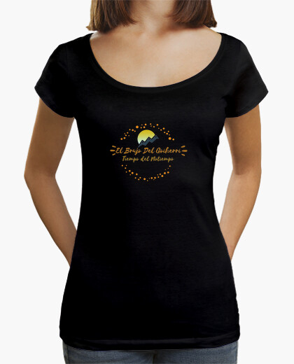 Camiseta Mujer, cuello ancho Loose Fit