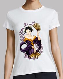camiseta mujer de geisha
