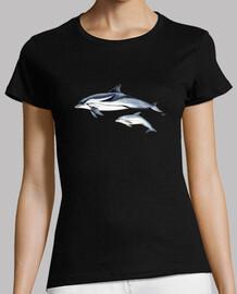 Camiseta mujer Delfín listado  (Stenella coeruleoalba)