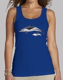 Camiseta mujer Delfín moteado del Pacífico