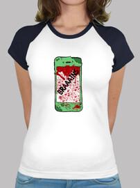 Camiseta mujer dos colores Zombiephone