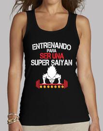 camiseta mujer entreno super saiyan vegeta