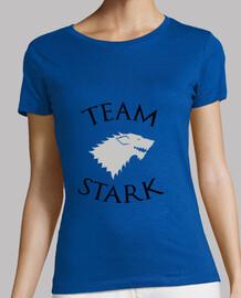 camiseta mujer equipo stark - juego de tronos