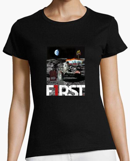 Camiseta mujer First - Astronauta en la luna