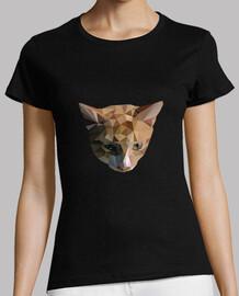 Camiseta Mujer Gato Low Poly
