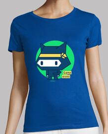 Camiseta mujer Gato ninja (varios modelos y colores)