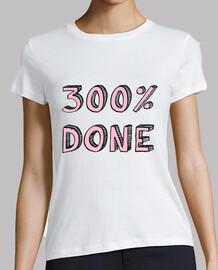 Camiseta mujer manga corta logo '300 done'