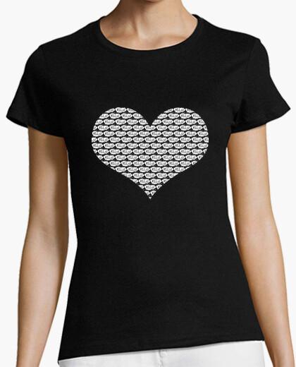 Camiseta Mujer, manga corta, negra,...
