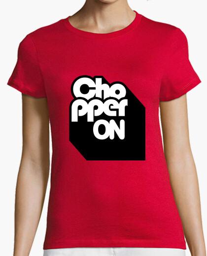 Camiseta Mujer, manga corta, roja, calidad premium