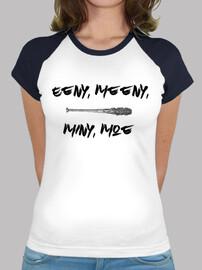 Camiseta Mujer Negan Lucille Eeny, Meeny