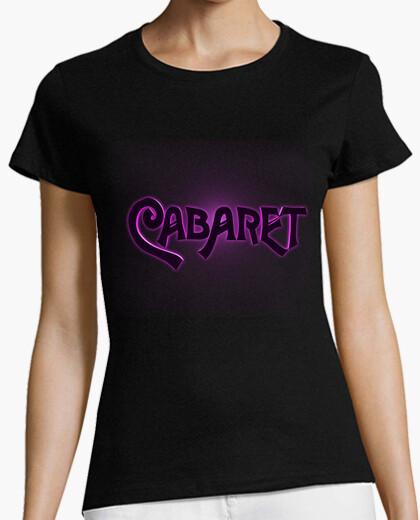 Camiseta Mujer Negra Cabaret