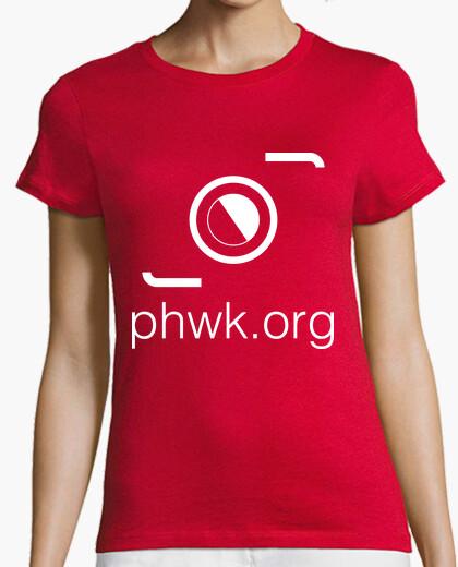 Camiseta mujer roja logo blanco