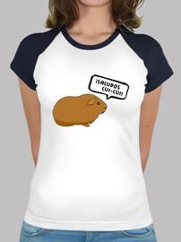 Camiseta mujer ¡Saludos cui-cui! BICOLOR