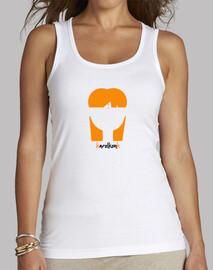 Camiseta Mujer sin mangas blanca karolkonk
