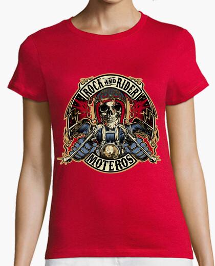 Camiseta Mujer, sin mangas, roja
