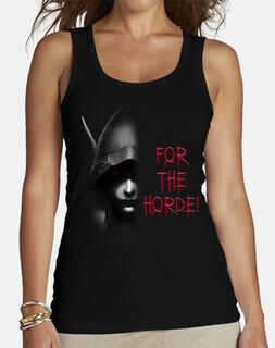 Camiseta Mujer Sylvanas B&N For the Horde!
