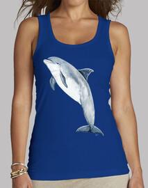 Camiseta mular Mujer, sin mangas, azul royal