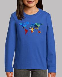 Camiseta Mundo de color