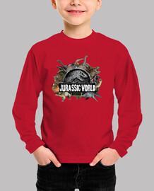 Camiseta Mundo Jurásico para Niños Manga Larga