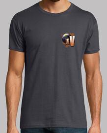 Camiseta Mundo Viajero - Hombre, gris ratón, calidad extra