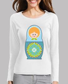 Camiseta Muñeca rusa azul