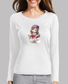 Camiseta muñequita chat